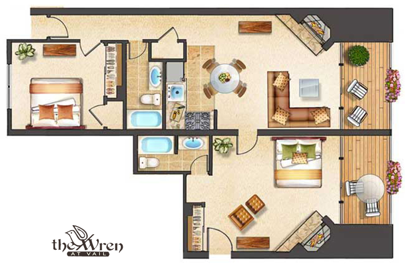 The Wren at Vail | Vail Village 2 bedroom 2 bath plus Loft