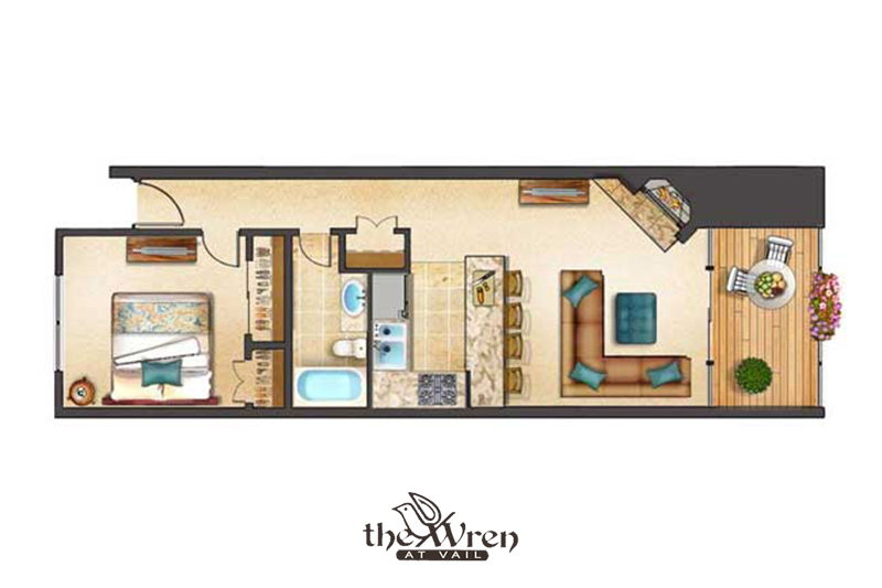 The Wren At Vail Vail Village 1 Bedroom 2 Bathrooms